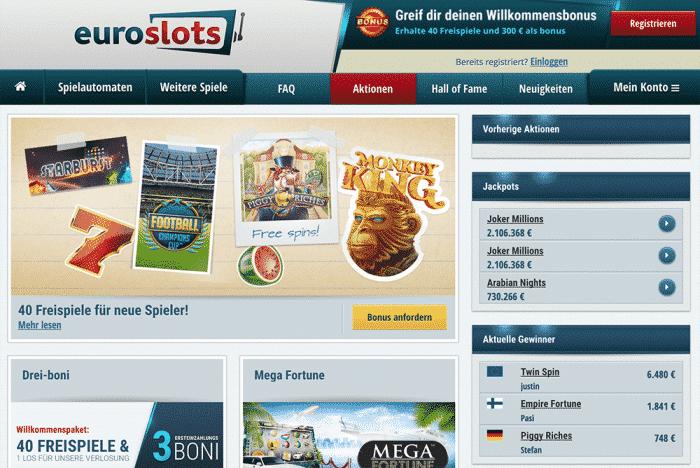 Bonus utan insättning EuroSlots casino Mittags