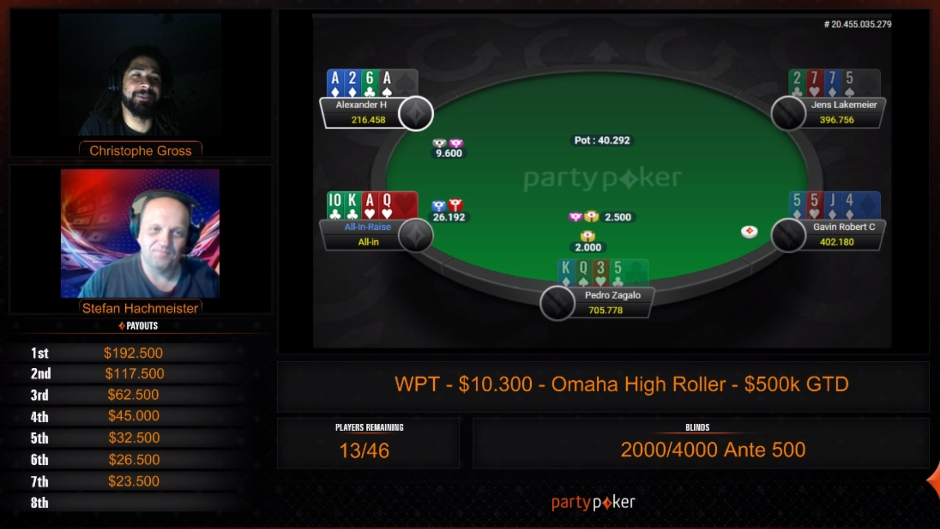 Partypoker live account PlayMillion Inkognito