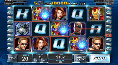 The Avengers slot Onanie