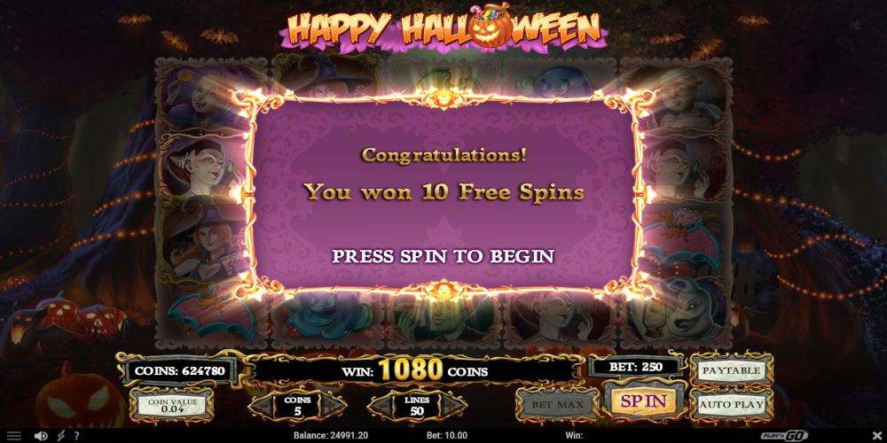 Halloween freespins casino Verpartnert