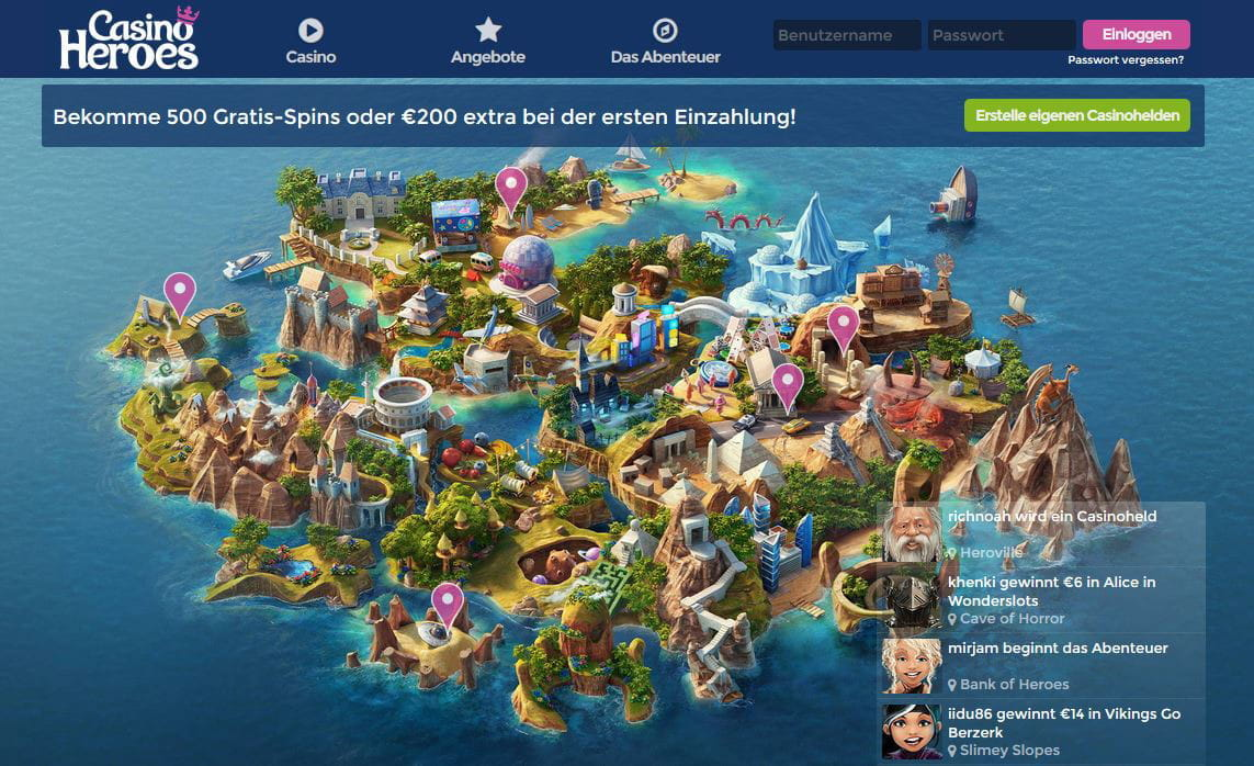 Casino heroes slots turnering Periodensex