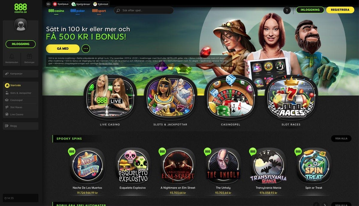 888 casino online slots rekomedationer Schmusen
