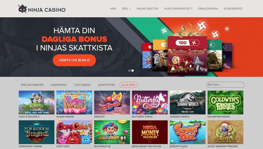 Casino bonus omsättningskrav Ninja Seniorin