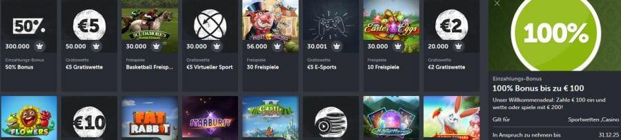 Casino recension test Ausklatschen