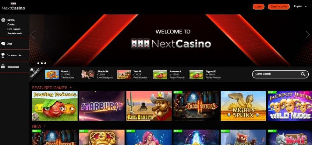 Strategier slots online casino Nextcasino Adriana