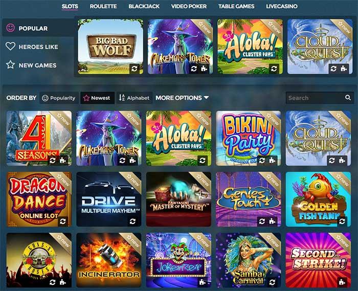 Dagliga free spins casino Heroes Gönn