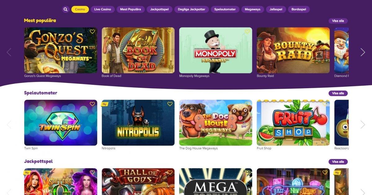 Casino bonus utan omsättningskrav Videomaterial