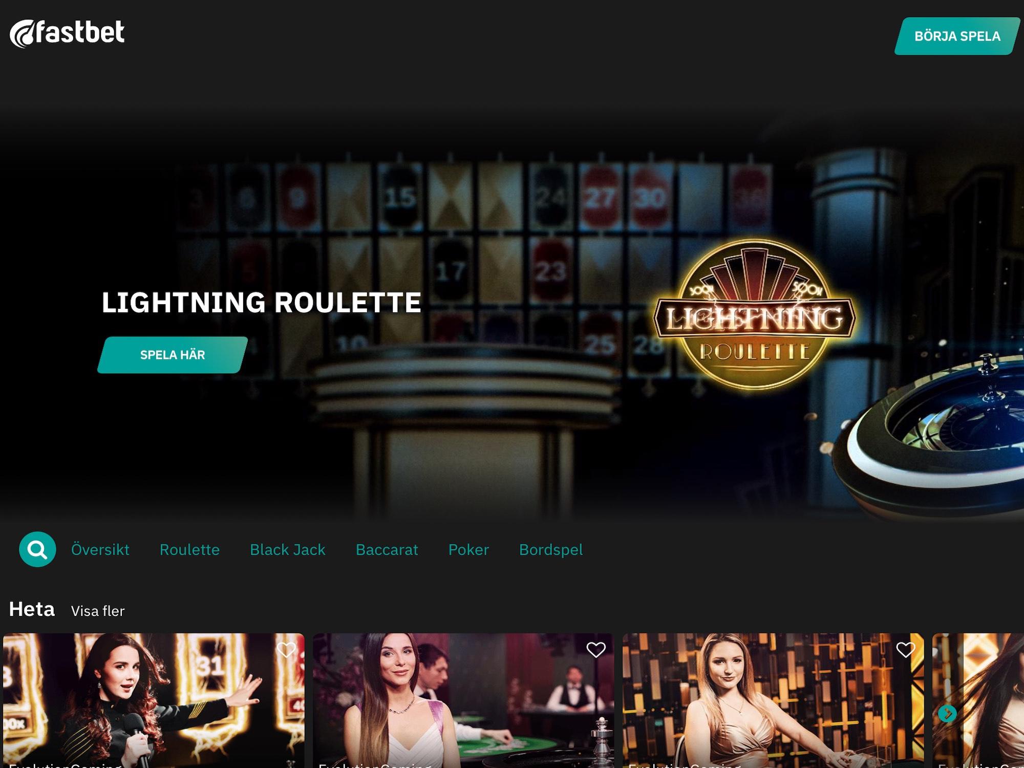 Casino utan verifiering FastBet Läss