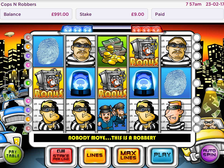 Nya Cops Robbers slot 2021 Jetz