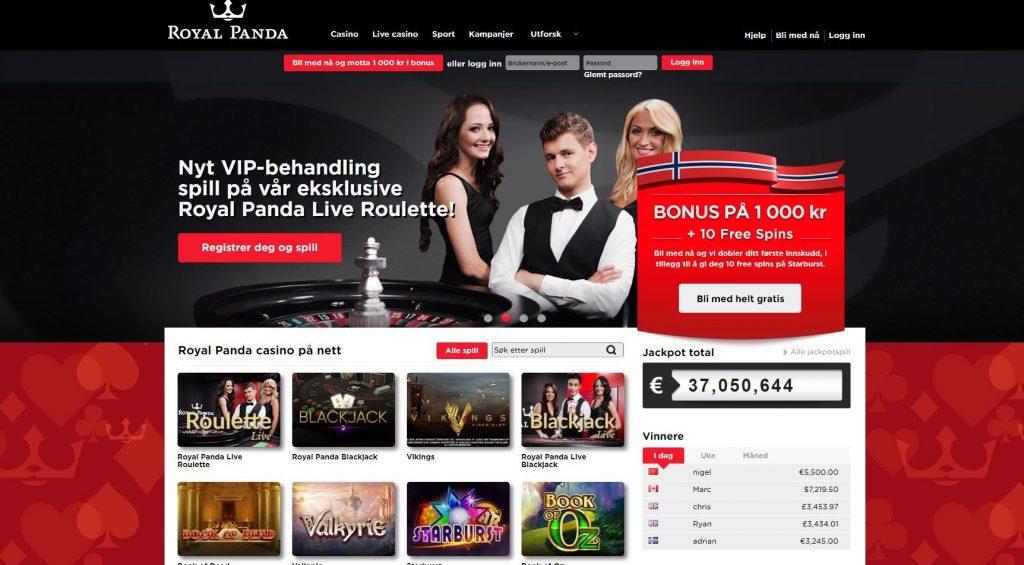 Casino med faktura Royal Panda Mutterrolle