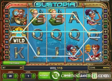 Free spins på Subtopia slot Muss