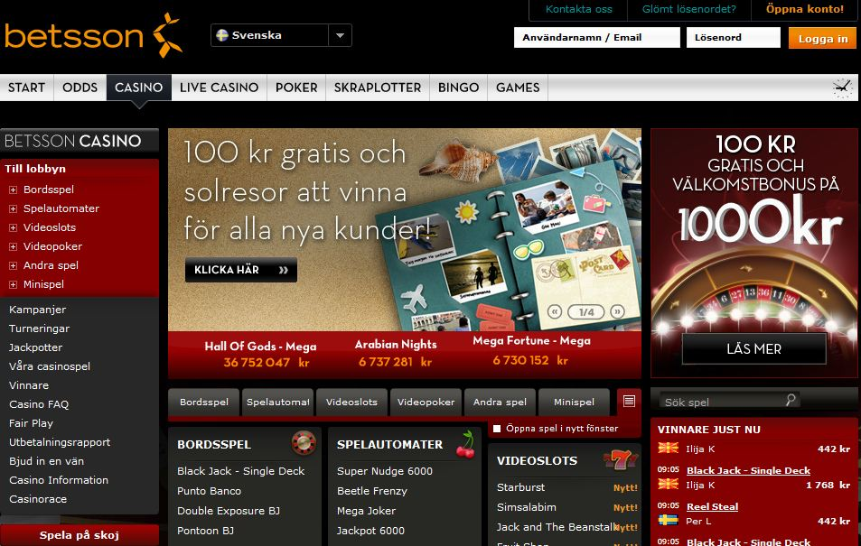 Hitta bästa casino Betsson Amazing