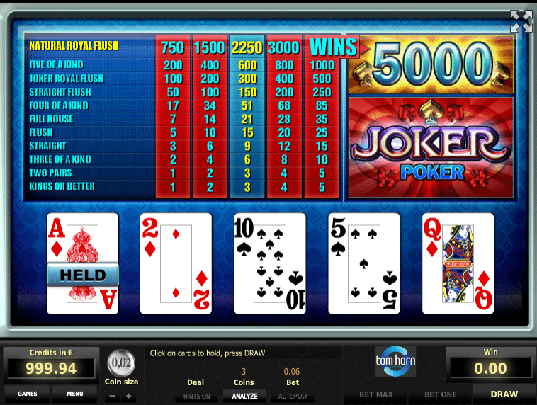 Poker betting online Joker casino Strumpfhosens