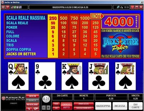 Videopoker spelform AHA casino Devotin